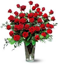 Three Dozen Red Long Stem Roses - Vday