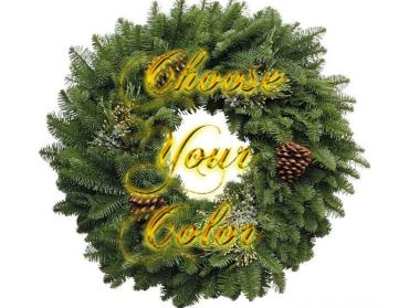 Choose Your Color Decorated Fresh Wreath