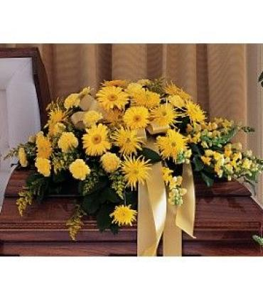 Yellow Casket Cover