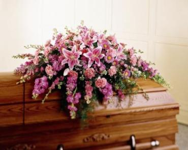 Mixed Pink Casket Cover