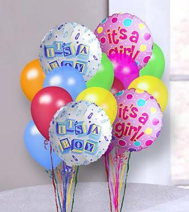 New Baby Balloon Bunch