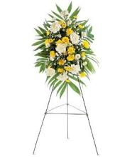 Yellow & White Spray on a Stand