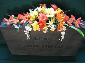Headstone Flowers Silk