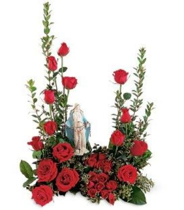 Holy Mary Red Rose Tribute