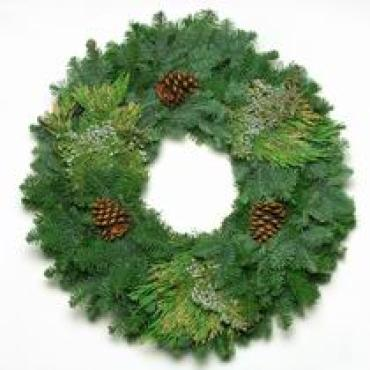 Mixed Noble with Cedar Fresh Wreath