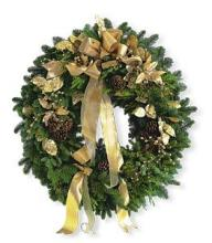 Gold Door Wreath