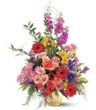 Mixed Spring Funeral Basket
