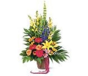 Colorful Funeral Basket