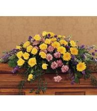 Purple & Yellow Casket Cover