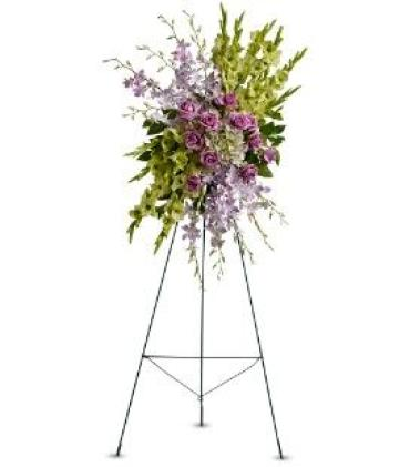 Green & Lavender Spray on a Stand