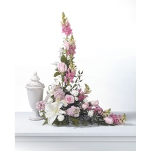 Pink & White Cremation Adornment