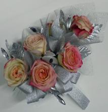 Pink Rose Bout and Wristlet Combination