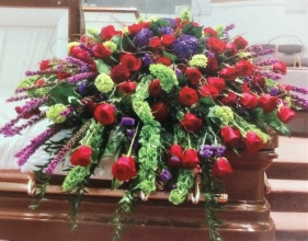 Jewel Toned Casket Cover
