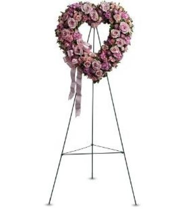 Rose Garden Heart on a Stand