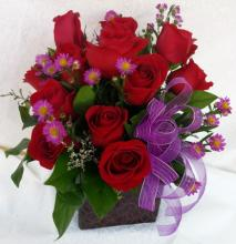 One Dozen Red Roses Pave - Vday