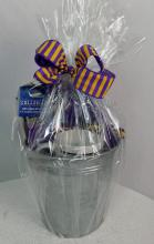 LSU Gift basket in Metal Chiller