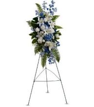 Blue & White Spray on a Stand