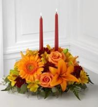 Thanksgiving Centerpiece with candles