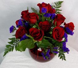 Dozen Red Pave\' Roses