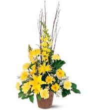 Bright Yellow Funeral Basket