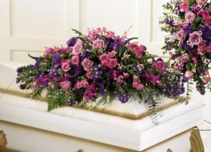 Mixed Purple Casket Cover