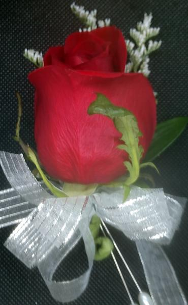 Red Rose Pin-on Corsage