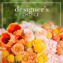 Designer Choice Orange Casket Cover