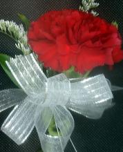Red Carnation Pin-on Corsage