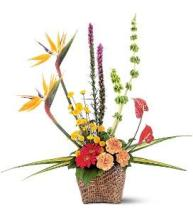 Tropical Funeral Basket