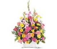 Mixed Spring Colors Basket