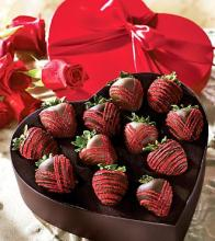 Mrs. Fields® Valentine Fancy Strawberries in Heart Box