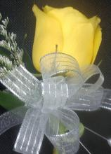 Yellow Rose Pin-on Corsage