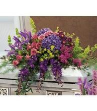 Purple, Blue, & Lavender Casket Cover