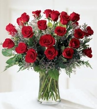 Two Dozen Red Long Stem Roses - Vday