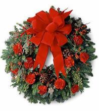 Red Door Wreath