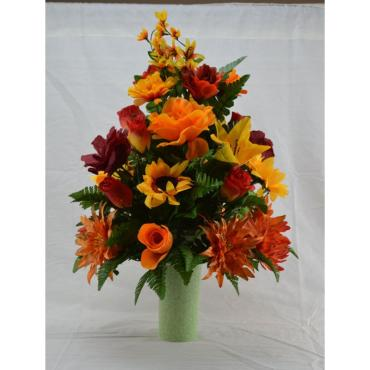 Seasonal Silk Graveside Flowers