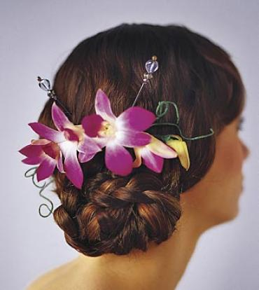 Elegant Orchid Headpiece