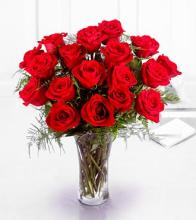 The Premium 18 Long Stemmed Red Roses Bouquet