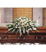 Large White Casket Cover