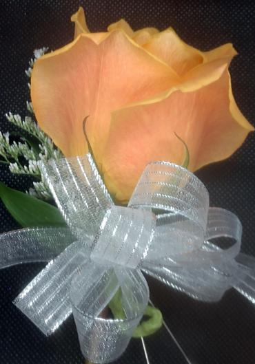 Orange Rose Pin-on Corsage