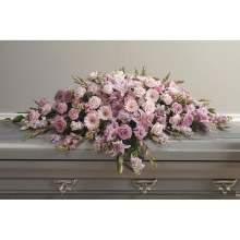 Pink & Purple Closed Casket Cover