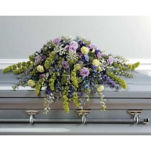 Purple, Blue & Green Casket Cover