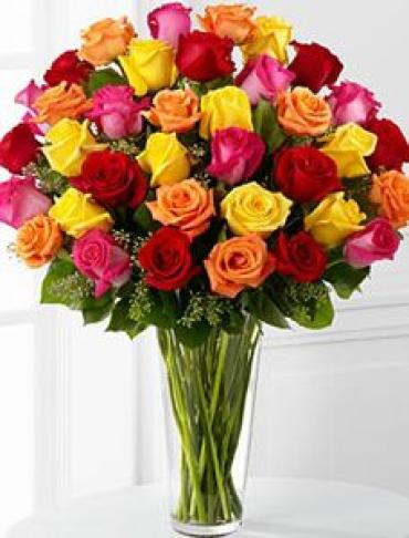 Three Dozen Mixed Roses - Designer Choice
